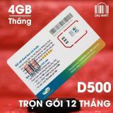 Sim Dcom 4G Viettel D500 Trọn Goi 1 Năm 4Gb Thang Viettel Chiết Khấu