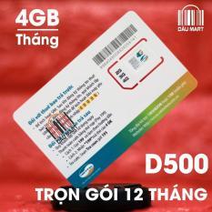 Sim Dcom 4G Viettel D500 Trọn Goi 1 Năm 4Gb Thang Viettel Rẻ Trong Hồ Chí Minh