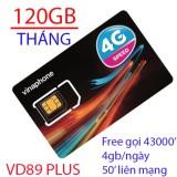 SIM 3G 4G Vinaphone VD89 plus khuyến mại 120gb/tháng, free gọi nội mạng,free 50p gọi liên mạng