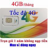Bán Mua Sim 3G 4G Viettel 4Gb Thang Trọn Goi 1 Năm Sieu Rẻ Khong Mất Tiền Gia Hạn Việt Nam