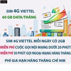 Sim 3G 4G Viettel V90 Km 60Gb Thang Gọi Miễn Phi Nội Mạng 50 Phut Ngoại Mạng Viettel Chiết Khấu 50