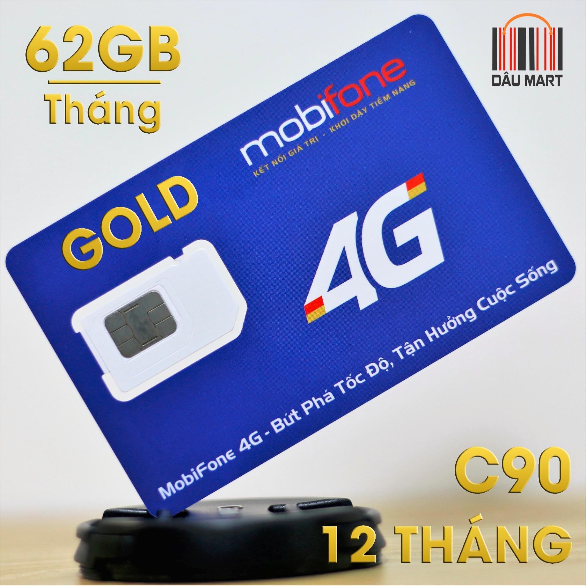 Siêu Sim 4G C90 Mobifone 62Gb/tháng
