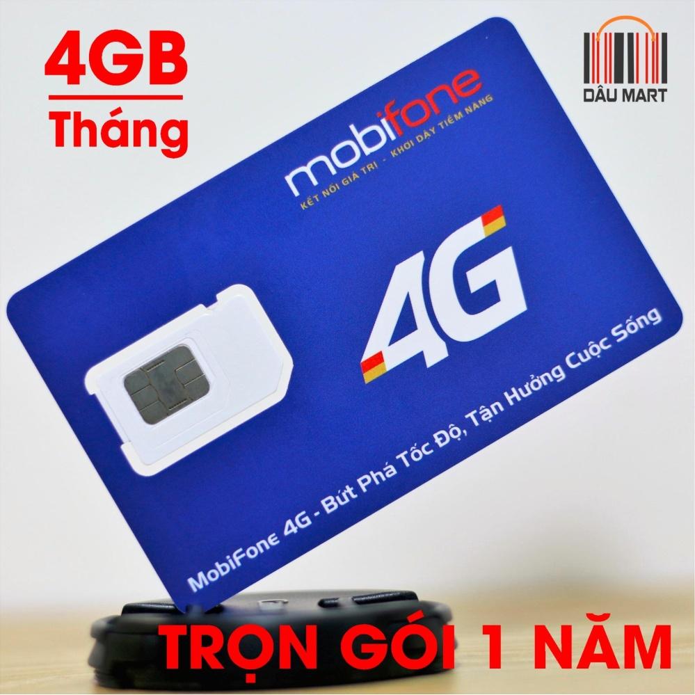 Sim 4G Data Mobifone Mdt250A Trọn Gói Không Cần Nạp Tiền 1 Năm