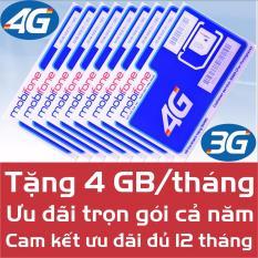 Sim 4G Mobifone 48Gb Trọn Goi 1 Năm Khong Cần Nạp Tiền Cam Kết Đủ 12 Thang Mobifone Chiết Khấu 50