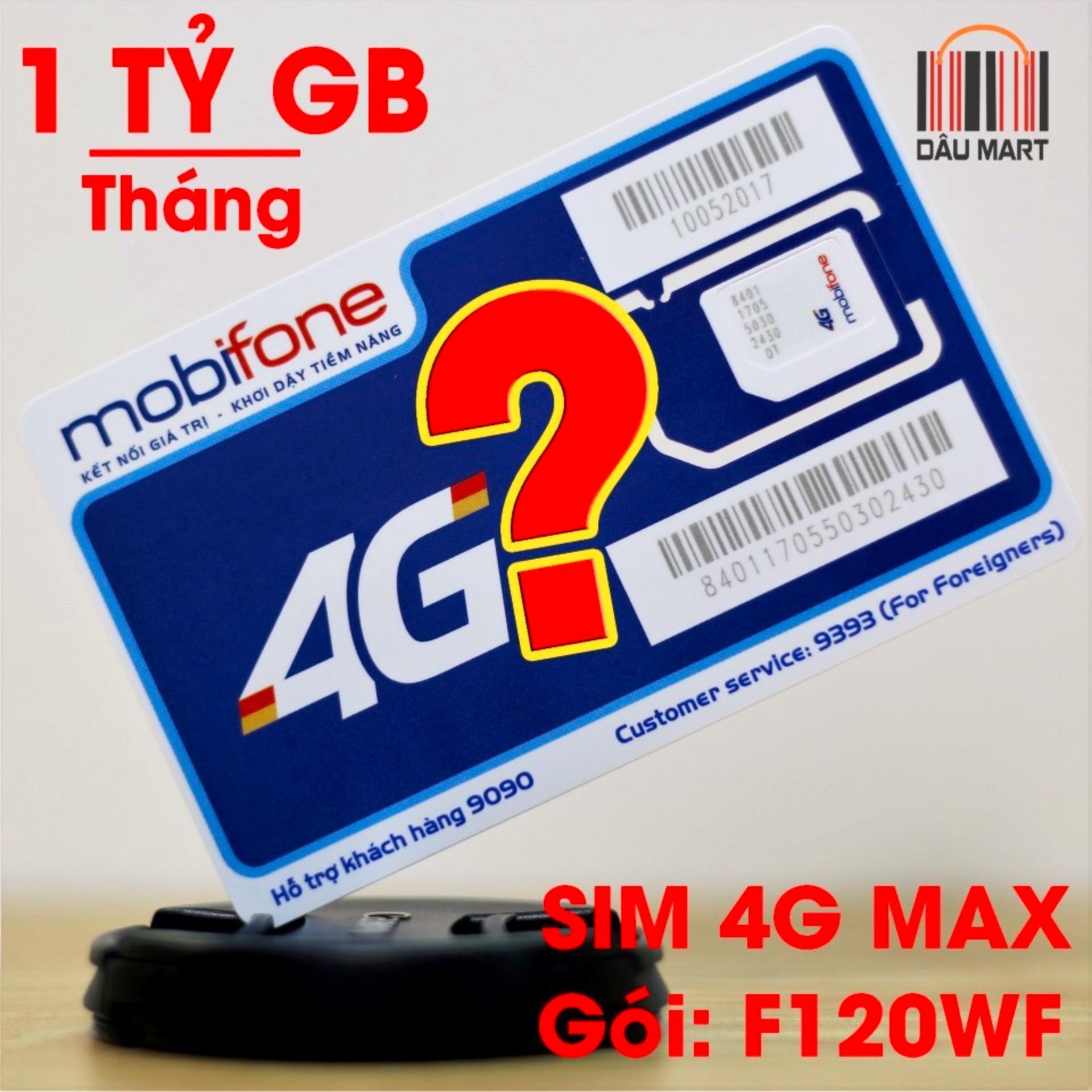 SIM 4G MobiFone F120WF không giới hạn Data - Xài thả ga