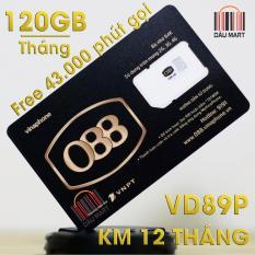 SIM 4G VD89P Vinaphone 120GB + Miễn Phí 43.000 Phút gọi/tháng