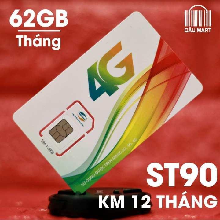 SIM 4G Viettel SIÊU TỐC ST90 Tặng 62GB/Tháng