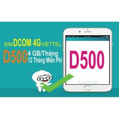 Bán Sim 4G Viettel Trọn Goi 1 Năm 4Gb Thang Goi D500 Người Bán Sỉ