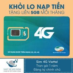 Sim 4G Viettel Trọn Goi 1 Năm 60Gb Tốc Độ Cao 5Gb Thang Hà Nội Chiết Khấu 50