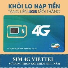 Bán Sim 4G Viettel Trọn Goi 1 Năm Sieu Rẻ Nhập Khẩu
