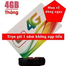 Sim 4G Viettel Trọn Goi 1 Năm Sử Dụng 4Gb Thang Chiết Khấu Việt Nam