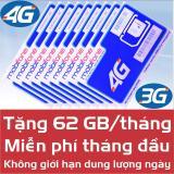 Mua Sim 4G 3G Mobifone Data 62 Gb Thang Tốc Độ Cao Mobifone Rẻ