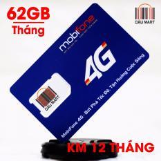 Sim 4G 3G Mobifone Data 62Gb Thang Free Thang Đầu Mdt120A Hồ Chí Minh