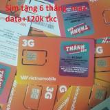 Giá Bán Sim Tặng 120K Free 6 Thang Max Băng Thong Vietnamobile60 Rẻ