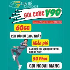 Sim V90 Viettel 4G 60Gb Thang Miễn Phi Gọi Nội Mạng Viettel 4G Chiết Khấu