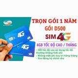 Giá Bán Sim Viettel 1 Năm Miễn Phi 4G D500 Viettel