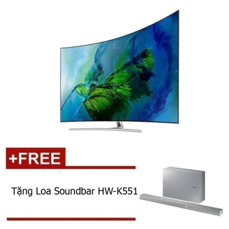 Bảng giá Smart TV QLED màn hình cong Samsung 65inch 4K – Model QA65Q8CAMKXXV(Bạc) – Hãng phân phối chính thức + Tặng Loa Soundbar HW-K551