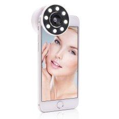 Hình ảnh SOBUY Sạc Selfie Vòng Đèn Kẹp Trên Chụp Ảnh ĐÈN LED Lấp Đầy Đèn 0.67 X Góc Rộng/10 X Macro ống kính Cho IPhone 6 6 s 7 Plus, IPad, Samsung Galaxy Và Android Điện Thoại Thông Minh (Màu Hồng)-intl