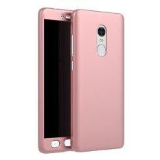 Ôn Tập Vỏ Nhựa Pc Bảo Vệ Toan Diện 360 Độ Đồng Mau Kem Kinh Cường Lực Danh Cho Xiaomi Redmi Note 4 Note4 Vang Hồng Quốc Tế
