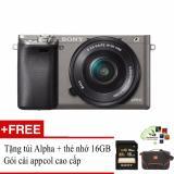 Sony A6000 24 3Mp Với Lens Kit 16 50 Xam Tặng 1 Tui Đựng May Ảnh Thẻ Nhớ 16Gb Goi Cai App Collection Rẻ