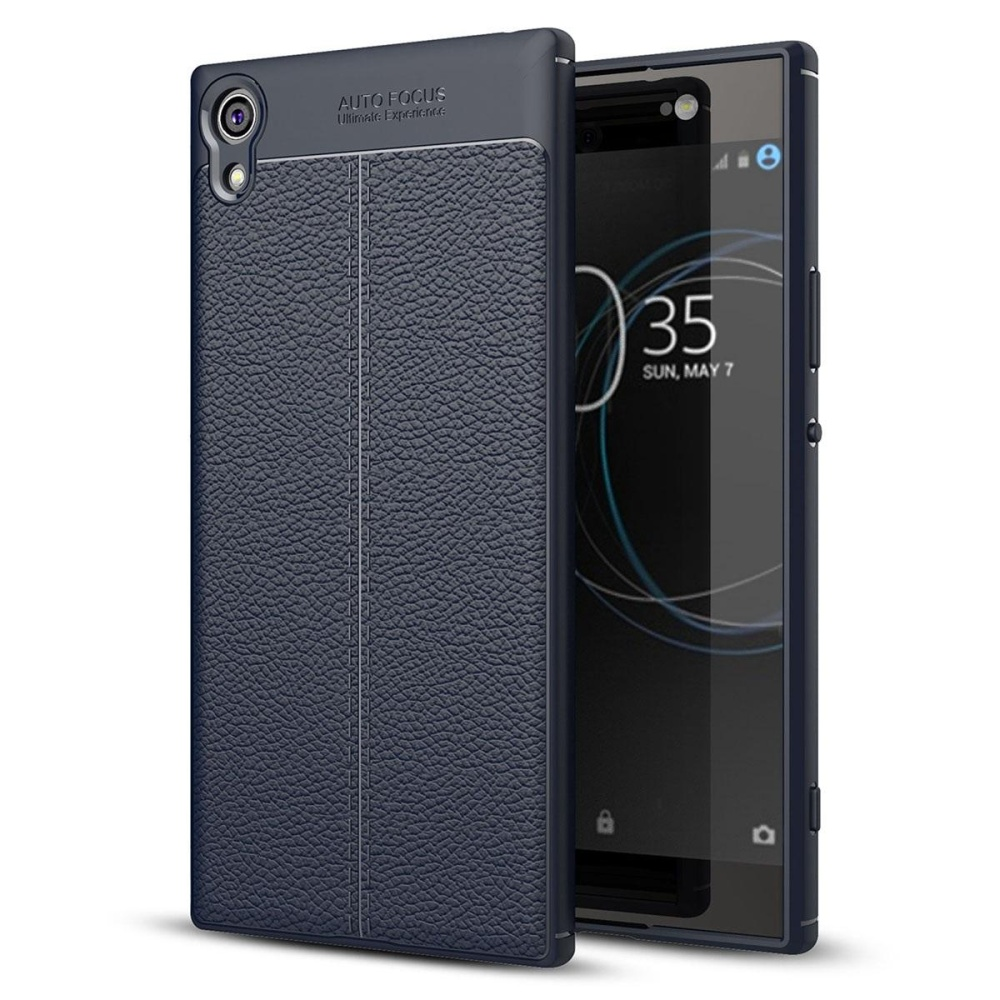 super popular 0c9f5 afd41 Sony Xperia XA1 Ultra Case , Mooncase [Ultra-Thin] Anti-Scratch Imitation  Leather Print Back Cover Premium Matte TPU Protect Cover - intl