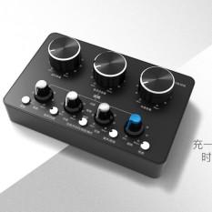Hình ảnh Sound card Landcar K8 KARAOKE di động Pin Sạc New 2018