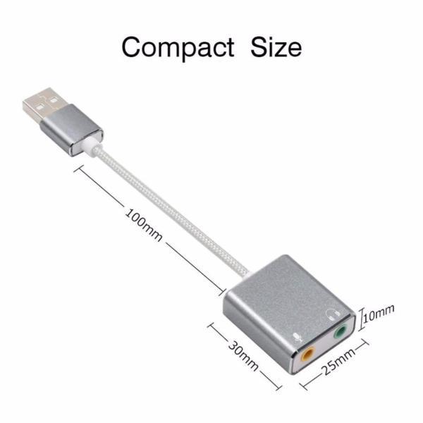 Sound card USB 7.1 âm thanh 3D vỏ hợp kim nhôm