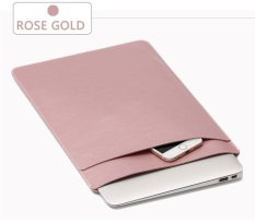 Hình ảnh SOYAN Da Ngựa Tay Túi 2 lớp cho MacBook Air 13 inch/Pro-Hoa Hồng Vàng