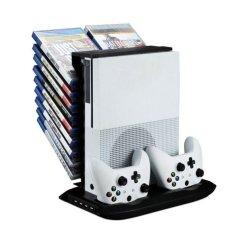 Hình ảnh Stand Holder Cooling Fan Charging Station Storage For XBOX ONE S Black - intl