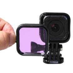 Standard Housing Scuba Accessory Diving Filter for GoPro HERO4 Session(Purple) - intl