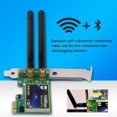 Hình ảnh Sweatbuy 150 m Bluetooth 4.0 PCI-E Không Dây WiFi Thẻ 2 Băng Tần 2.4 gam/5 gam 2 Ăng Ten -quốc tế