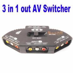 Hình ảnh Switch AV cho tivi 3 cổng vào - 1 cổng ra kết nối nhiều thiết bị (Đen)