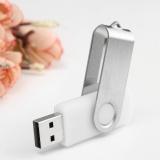 Xoay 1 m 1 mb USB 2.0 Đèn Led Nhớ Ổ Lưu Trữ Ngón Tay Cái Dính Bút Thiết Kế Màu Trắng-quốc tế