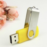Xoay 8 mb 8 m USB2.0 Nhớ Ổ Lưu Trữ Ngón Tay Cái Dính Quà Tặng Bút Gấp Màu Vàng-quốc tế