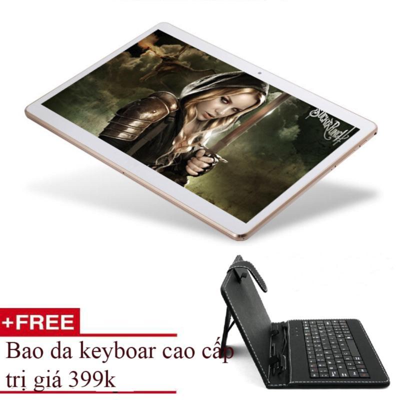 Tablet MTK 6582 HD 2K 10inch Cortex A9 Ram 2G 2sim tặng bao da Keyboard