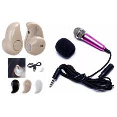 Tai nghe Bluetooth hạt đậu + tặng Micro Mini hồng(giao màu ngẫu nhiên)