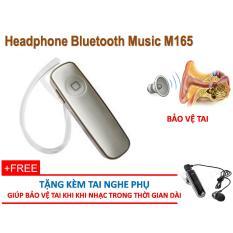 Bán Tai Nghe Bluetooth Music M165 Tặng Kèm Tai Nghe Phụ Tránh Hỏng Tai Khi Nghe 1 Ben Thời Gian Dài Nguyên
