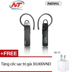 Tai nghe Bluetooth Remax RB-T9 HD Voice V4.1 (Đen) + Tặng 1 cốc sạc