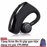 Bán Tai Nghe Bluetooth V9 Đen Hang Nhập Khẩu Tặng Kem Balo Du Lịch Gấp Gọn Có Thương Hiệu Rẻ