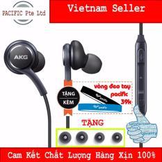 Hình ảnh Tai nghe cho Samsung Galaxy S8 Plus AKG - Tặng 4 nút tai phụ (đen) - Tặng Vòng đeo tay Silicone Pacific