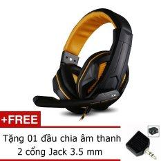 Giá Bán Tai Nghe Chơi Game Ovann X2 Gaming Headsets Ovann X2 Đen Cam Tặng Đầu Chia Am Thanh 2 Cổng Jack 3 5Mm Ovann Hồ Chí Minh