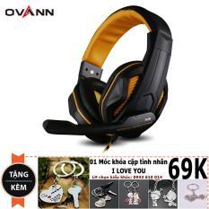 Giá Bán Tai Nghe Chơi Game Ovann X2 Gaming Headsets Ovann X2 Đen Cam Tặng Moc Chia Khoa Tinh Yeu Trực Tuyến