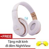 Ôn Tập Tốt Nhất Tai Nghe Chụp Tai Bluetooth Nvpro 6Ss Trắng Phối Đồng Tặng Mắt Kinh Đi Đem Nightview