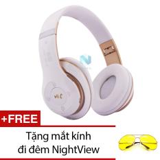 Tai Nghe Chụp Tai Bluetooth Nvpro 6Ss Trắng Phối Đồng Tặng Mắt Kinh Đi Đem Nightview Nvpro Rẻ Trong Hồ Chí Minh