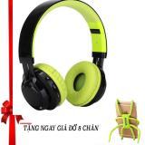 Tai Nghe Chụp Tai Bluetooth Nvpro Ab 005 Đen Phối Xanh La Tặng Gia Đỡ Đa Năng Nhện 8 Chan Giống Hinh Chiết Khấu Hồ Chí Minh