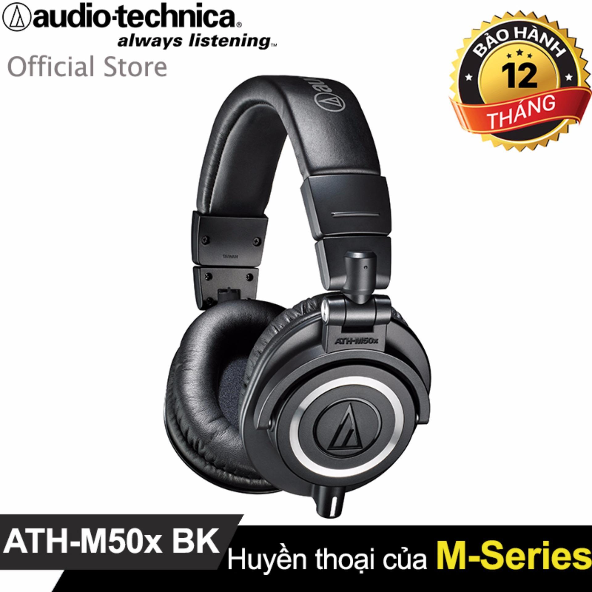 Tai Nghe Chụp Tai Cao Cấp Audio Technica Ath-M50X