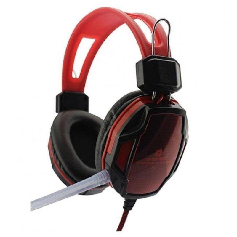 Tai nghe chụp tai chơi game Qinlian A6 (Đen đỏ)