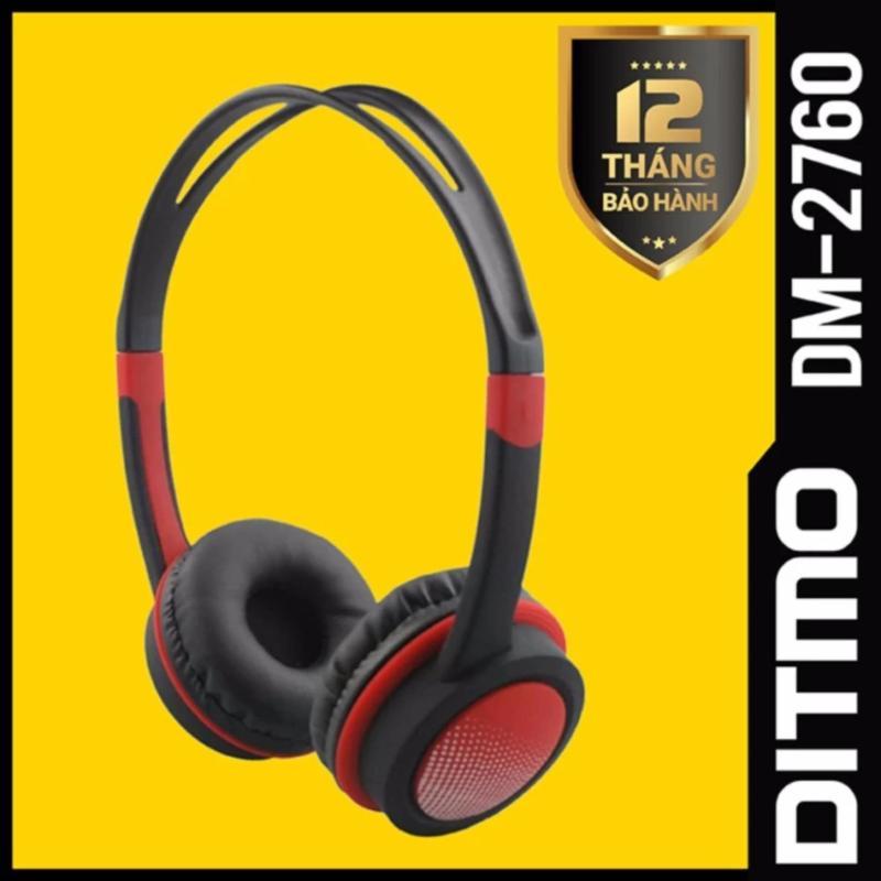 Tai nghe chụp tai DITMO DM-2760 (Đen phối đỏ)