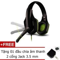 Tai Nghe Chụp Tai Ovann X1 Pro Gaming Headsets Ovann X1 Đen Xanh Tặng Jack Chia Am Thanh 3 5Mm Trong Hồ Chí Minh