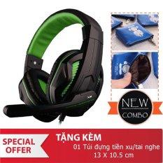 Hình ảnh Tai nghe chụp tai Ovann X2 Pro Gaming Headsets Ovann X2 (Đen Cam) Tặng ví đựng tai nghe Doremon